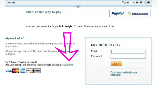Another Paypal screen you might see