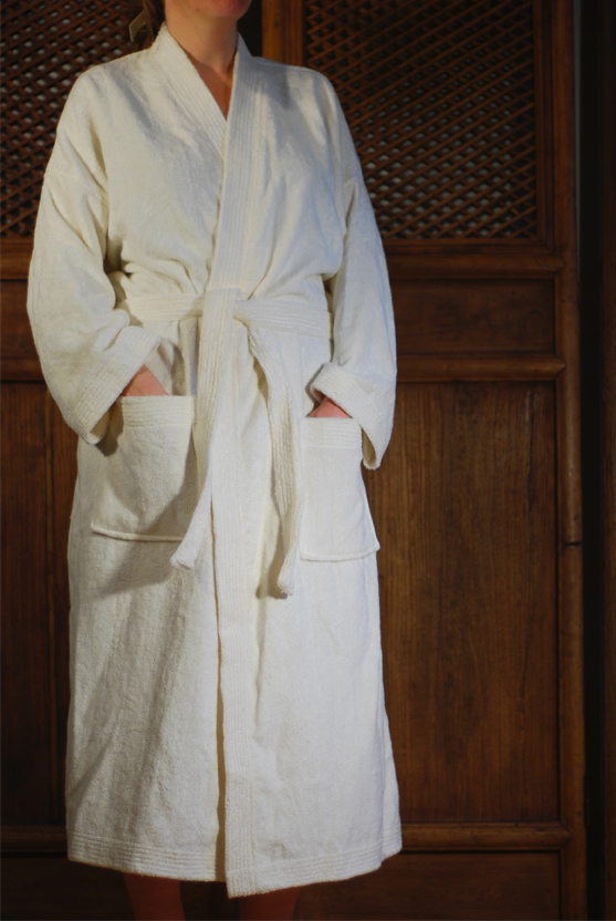 Organic Clothing   Bamboo Unisex Bathrobe - Natural 3e135c347
