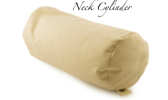 neck cylinder buckwheat pillow with washable cover