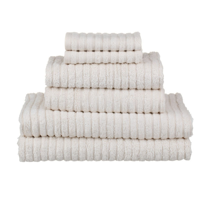 Organic Cotton Towel Sets - Ribbed