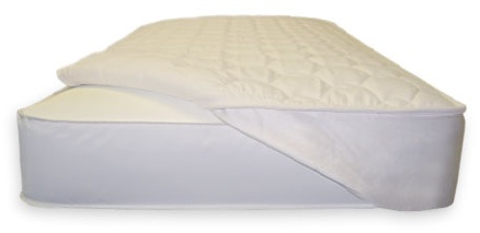 Organic Bedroom Quilted PLA Non Waterproof Mattress Pad with Straps