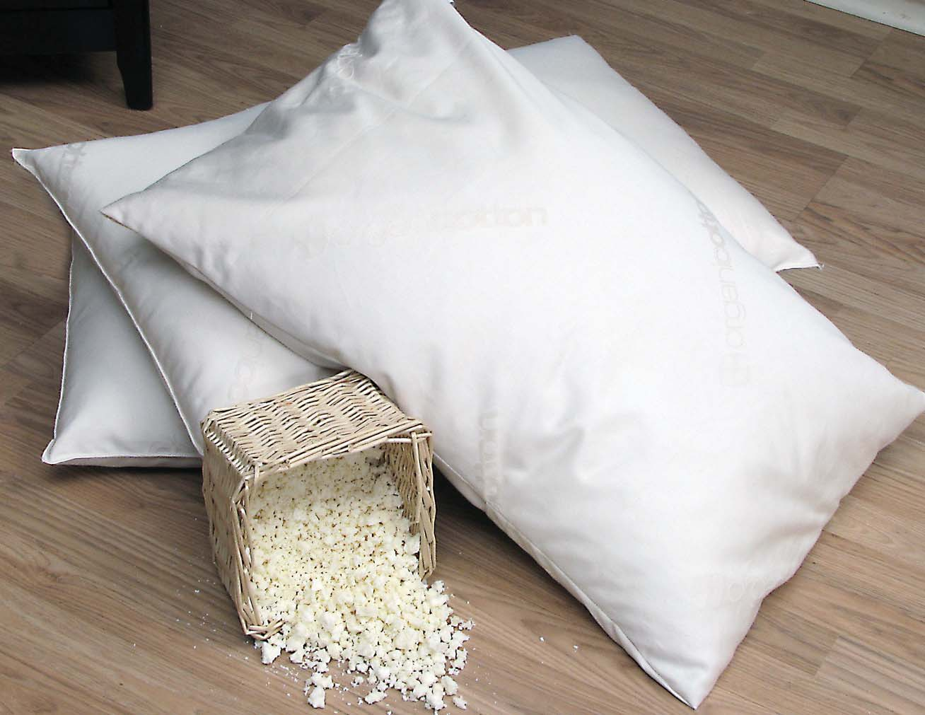 Washable - Natural Shredded Rubber Latex - Down Alternative Zipper Pillow