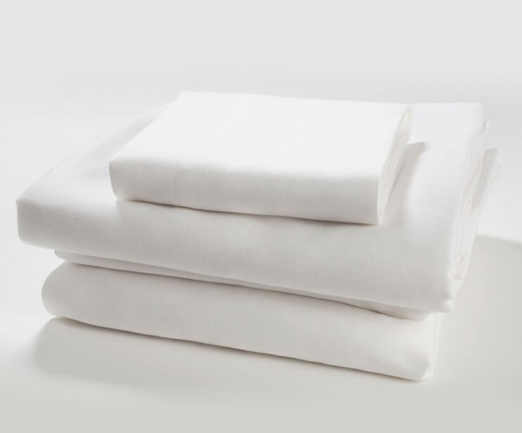Solid White Bedding Set - Organic Sateen
