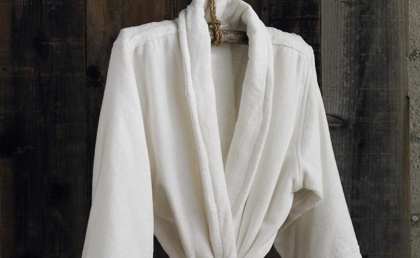 Organic Bathrobe Terry Velour Unisex Cotton Robe