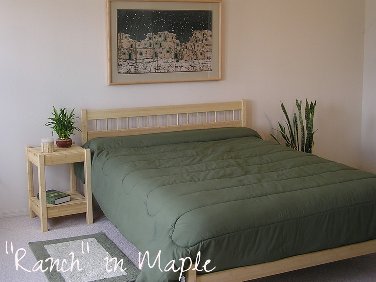 Untreated Wood Bed Frame