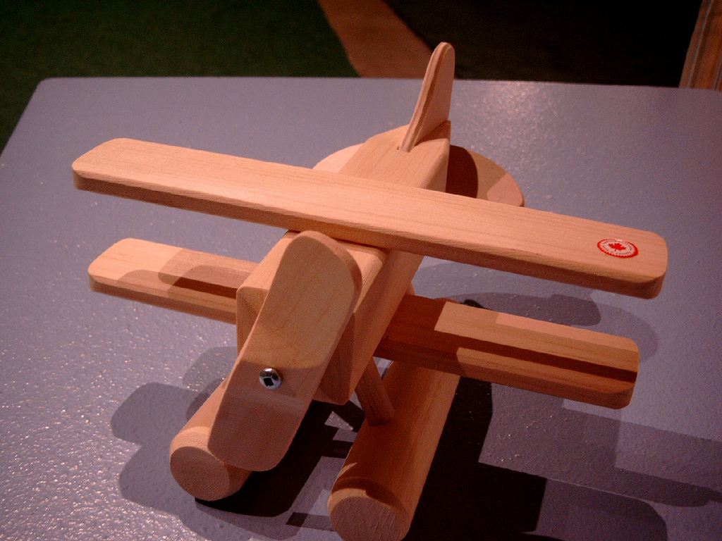 Wooden Bush Plane Toy