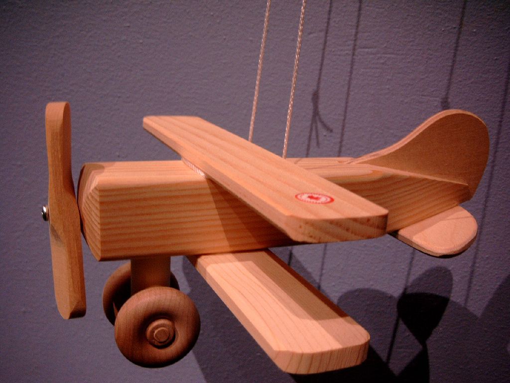 Wooden Gypsy Moth Plane