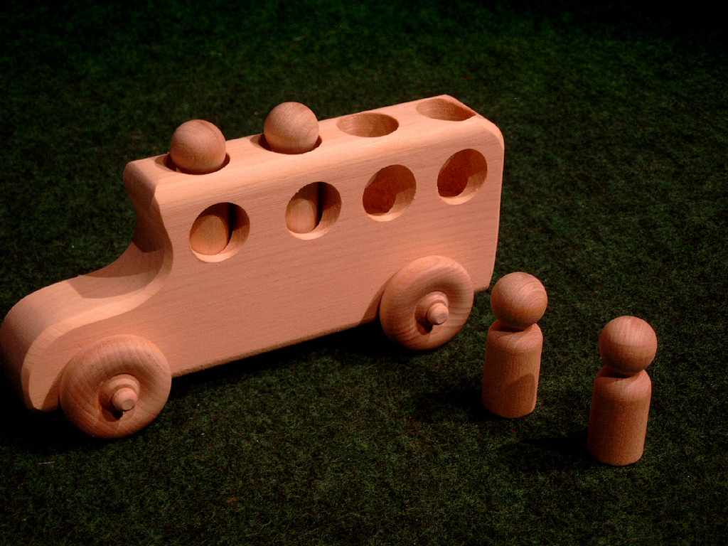 Wooden School Bus Toy