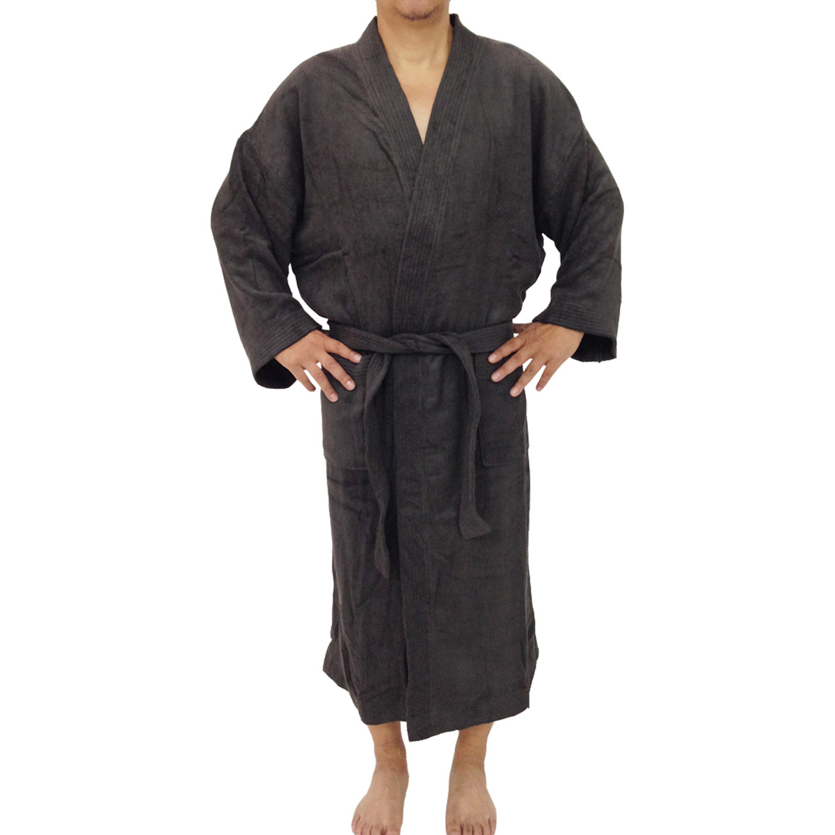 Bamboo Unisex Bathrobes - Charcoal