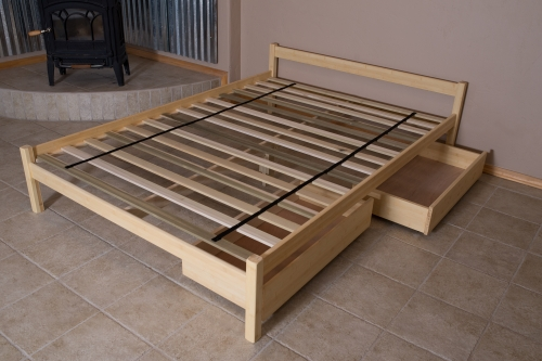untreated solid wood bed frame sleigh