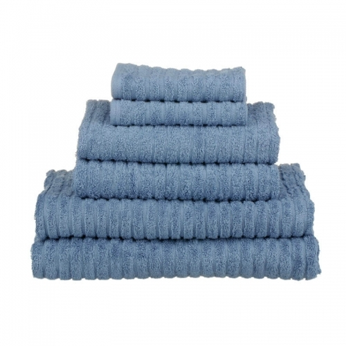 Organic Cotton Towels Set Ribbed Multi Colours Face