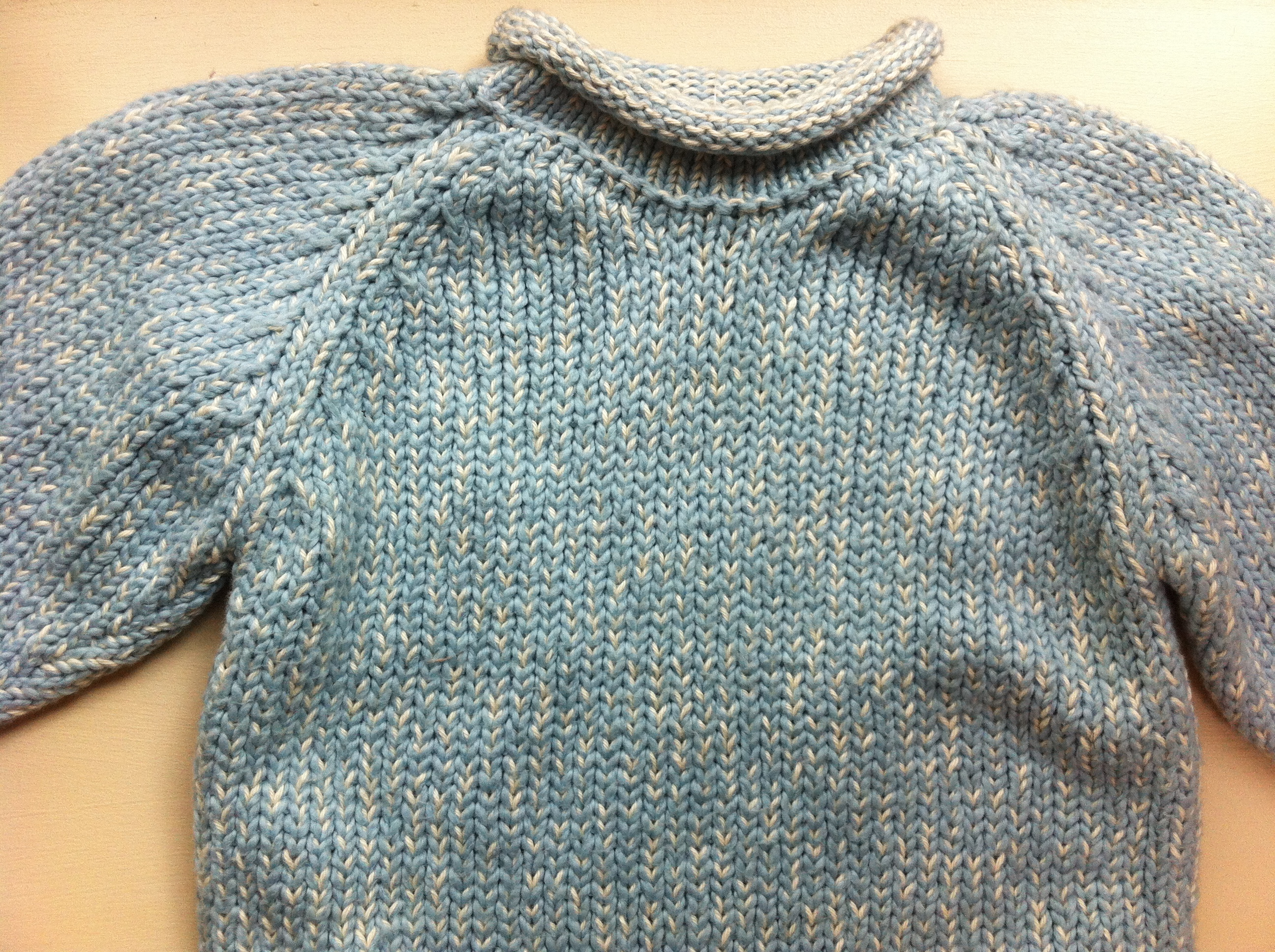 Knit Sweater W/ Mock Turtleneck