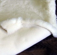 Natural Wool Fleece for Baby car seat or stroller