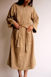 Bamboo Unisex Bathrobes - Latte