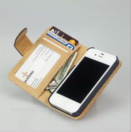 iPhone Wallet Case - Natural Cork