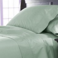 Organic Bedding - Sateen Mist Green