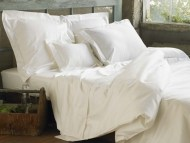 Sateen White Duvet Cover by Coyuchi