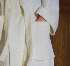 Bamboo Unisex Bathrobe - Natural
