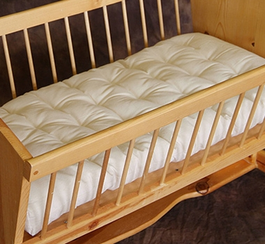 Natural Wool Cradle Bassinet Mattress - no plastic