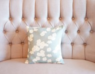 Blue Cherry Blossom non-toxic Cushion