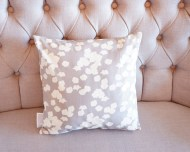 Grey Cherry Blossom non-toxic Cushion