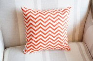 Tangerine Chevron non-toxic Cushion