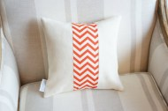 Tangerine Chevron Stripe non-toxic Cushion