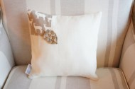 Natural Deer & Linen with Pine cone non-toxic Cushion