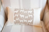 Natural Deer and linen non toxic Cushion - Oblong