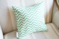 Aqua Chevron non-toxic Cushion