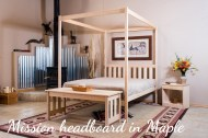 Untreated Solid Wood Bed Frame - 4 Poster Bed