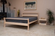 Untreated Solid Wood Bed Frame - Sleigh