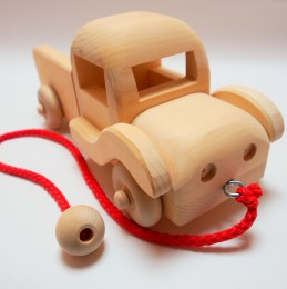 Wooden Pickup Toy Truck