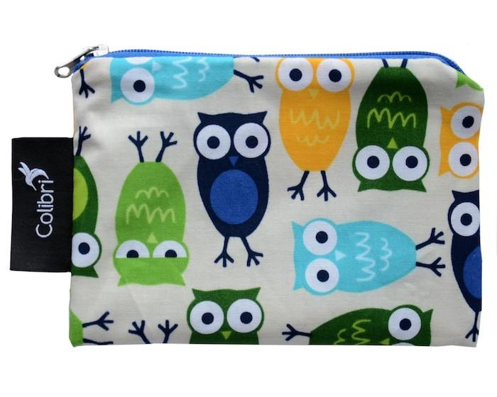 Reusable Snack Bags Owls