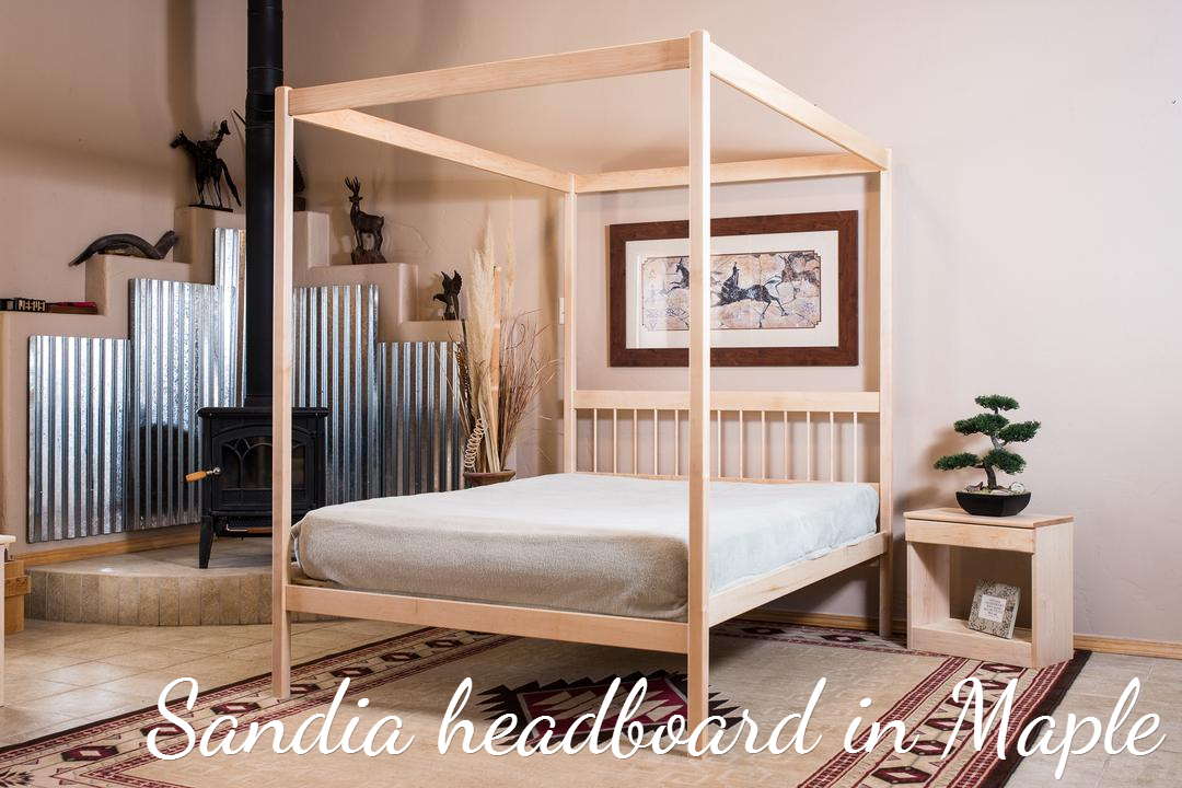 Organic Bedroom : Untreated Solid Wood Bed Frame - 4 Poster Bed