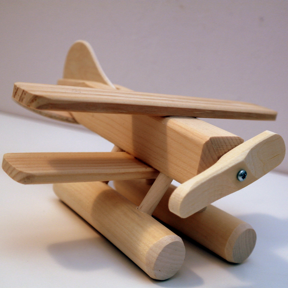 Wooden Toys Product : Natural baby and kids toys wooden sea plane toy